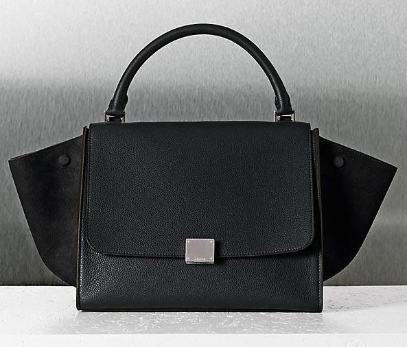 celine black trapeze bag