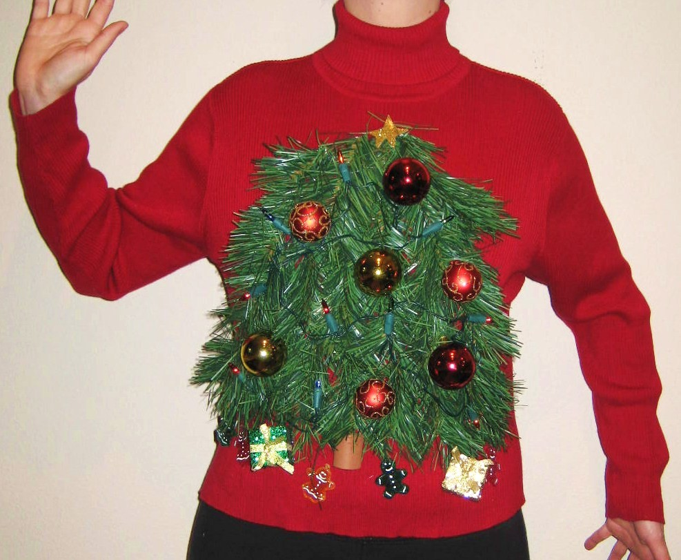 Ideas for hosting an Ugly Christmas Sweater party. Sometimes also called a Tacky Christmas Sweater party, this party is great fun and a perfect theme for any party taking place around the holiday season.