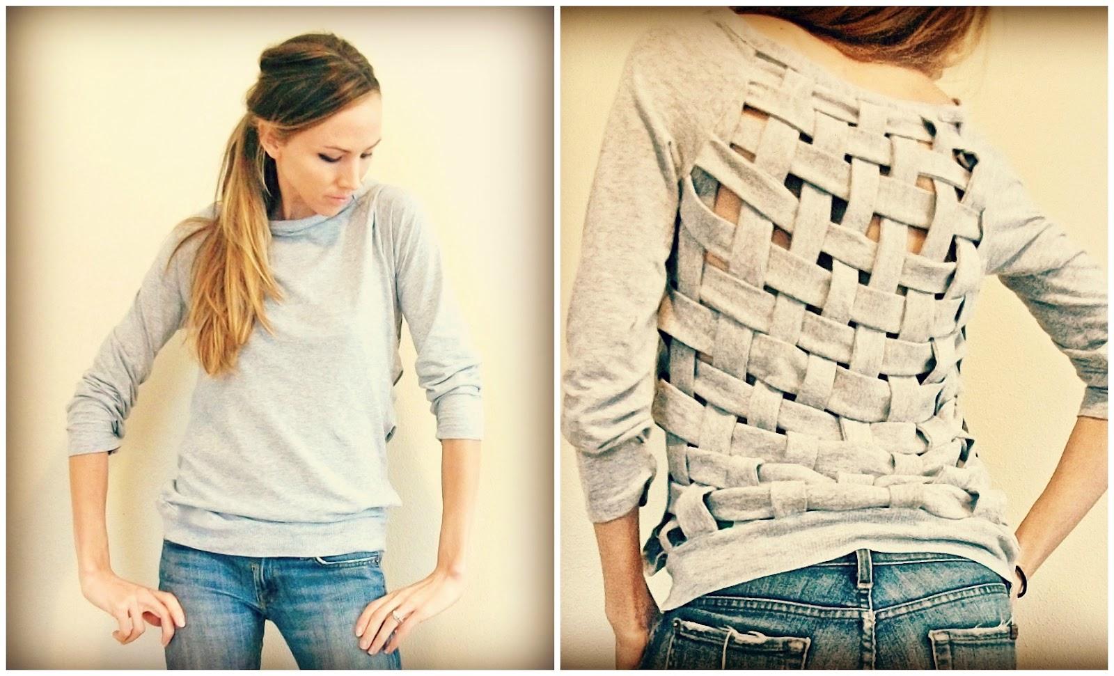 diy fashion basket weave shirt mz mahogany chicmz. Black Bedroom Furniture Sets. Home Design Ideas